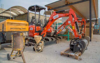 Equipment rental building